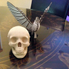 New papercraft kits: Skull and pigeon