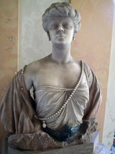 A bust of one of the contessa's that owned the villa