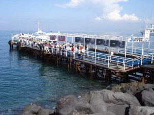The dock in Sorrento