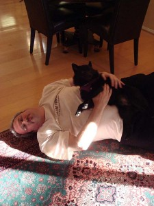 Iggy laying on me