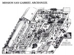 Map of Mission San Gabriel Archangel from the gift shop