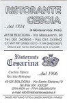 Ristorante Cesarina card