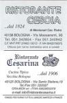 Ristorante Cesarina card