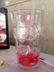 Chin Chin: Hibiscus tea - note the separated ice