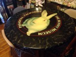 The Bunny Museum table