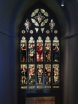 A large stained glass window