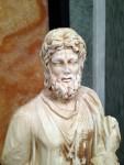 A statue head