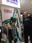 Me with a Hatsume Miku costume at the airport