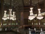 Awesome chandeliers at the Hyatte