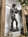 A copy of the statue of David along one of our walks