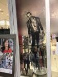 Zombie on a store door