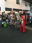 A casual group of cosplayers