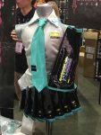Hatsune Miku outfit at a booth