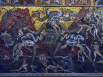 The devil eating sinners inside the Bapistry