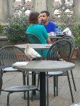 A large pigeon at the Uffizi cafe