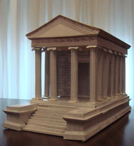 Temple of fortuna virile rome for How to make paper temple