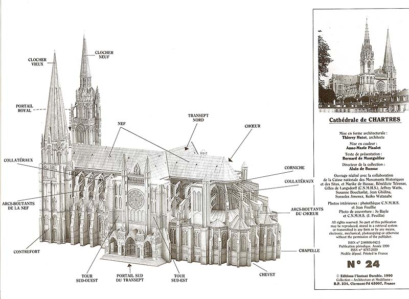 Brochure From Chartres Paper Model