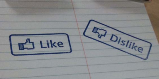 Like button stamp