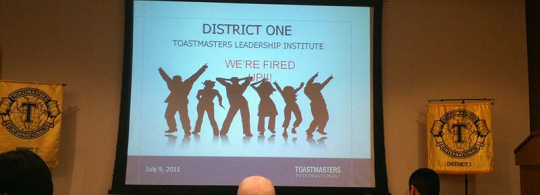 My notes from the Toastmasters Leadership Institute (TLI) for District 1