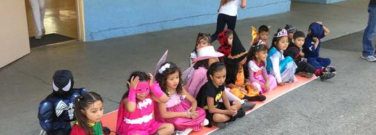 Volunteering at Sunrise Elementary School