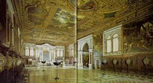 A view from inside the Scuolo Grande San Rocco
