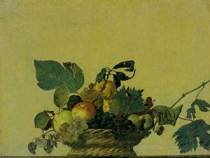 Basket of Fruit by Carravagio