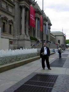 Bob in front of the Metropolitan Museum of Art