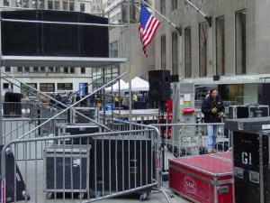 Breaking down the Today Show outdoor concert on Friday - we just missed it!