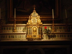 The alter at Chiesa Nuova