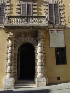 The original door to Monti di Pasche di Siena