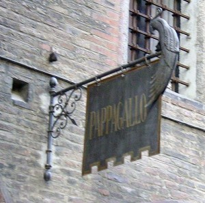 The street sign for Pappagallo