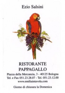 Business card for Pappagallo (front)