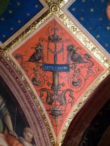 A grotesque decorating the Collegio del Cambio