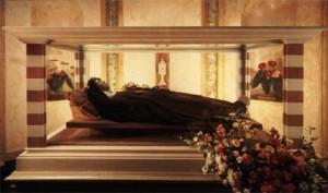 Saint Claire resting within San Chiara