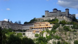 A view from the highway of Spoleto on the way to Assisi