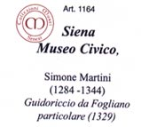 The ticket for the Museo Civico