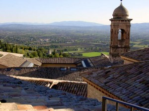 The view from our window in Assisi