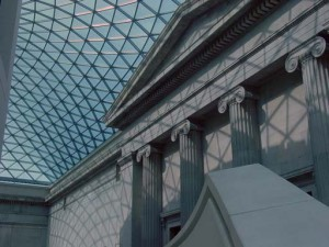 A shot of the new center area of the British Museum