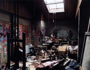 And an image of Francis Bacon's studio - and you think my desk is a mess