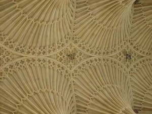 A view of the fan-style ceiling in the Abbey