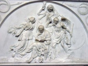 Another memorial detail from a side interior wall of the Abbey