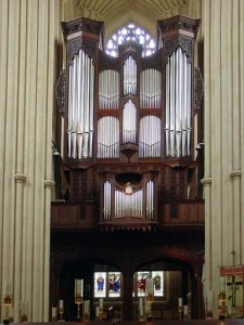 And here's the pipe organ