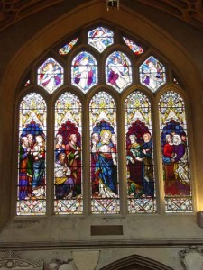 Stained glass windows in the Abbey