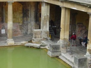 A view of the baths from the upper level