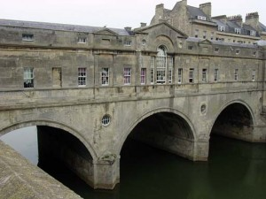 Pulteney Bridge - the stores are in the windowed areas
