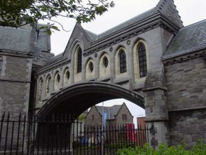 The stone bridge between Dublinia and Christ Church