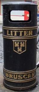 A trash can in Dublin