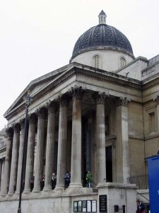 The facade of the National Gallery