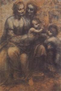 """The Virgin and Child with Saint Anne and Saint John the Baptist"" by Leonardo Da Vinci"