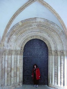 And this is the old door for the Temple Church